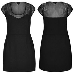 City Chic Black Roxanne Ponte Mini Dress